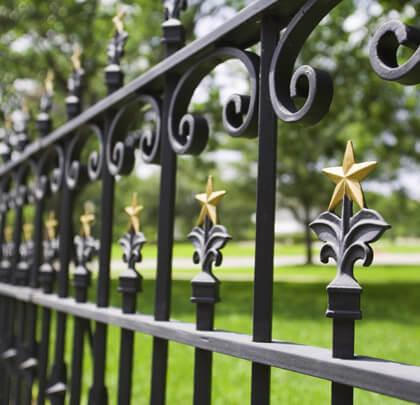 zwart hek